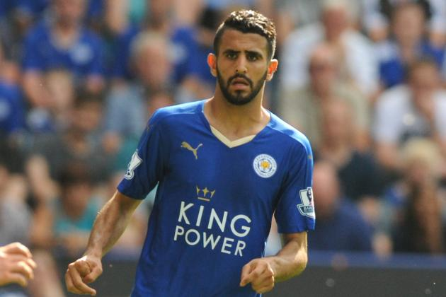 a7c6155c1 Arsenal fans call for Arsene Wenger to sign Leicester s Riyad Mahrez   Tweets