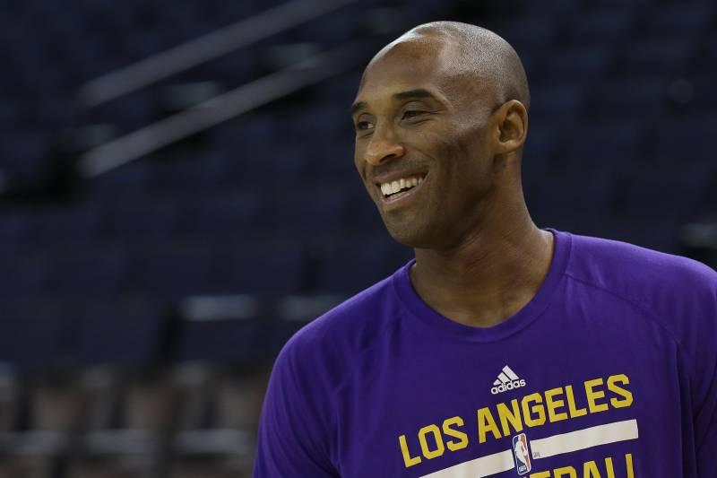 90dbfab6942 Los Angeles Lakers guard Kobe Bryant warms up before an NBA basketball game  against the Golden