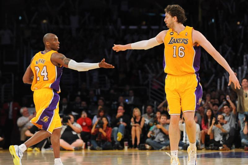ea9293b16 Pau Gasol Recognizes Kobe Bryant as  One of the Best Ever  Ahead of ...