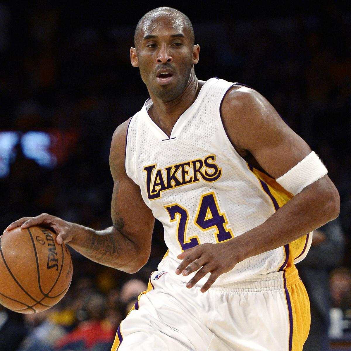 Lakers Debating Which Kobe Bryant Jersey Number to Retire  234a2f487