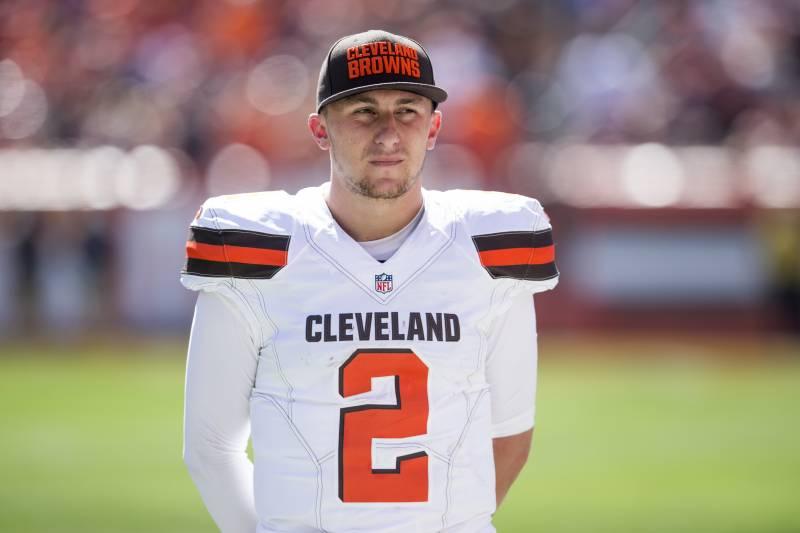 f7e3cf1dadc CLEVELAND, OH - SEPTEMBER 20: Quarterback Johnny Manziel #2 of the  Cleveland Browns