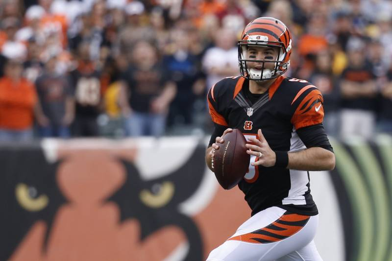 f70a5ffcf AJ McCarron assumes the starting role for the Cincinnati Bengals with Andy  Dalton injured.