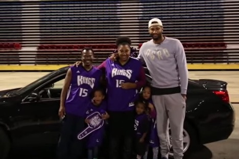 Kings' DeMarcus Cousins Brings Family to Tears with New Car