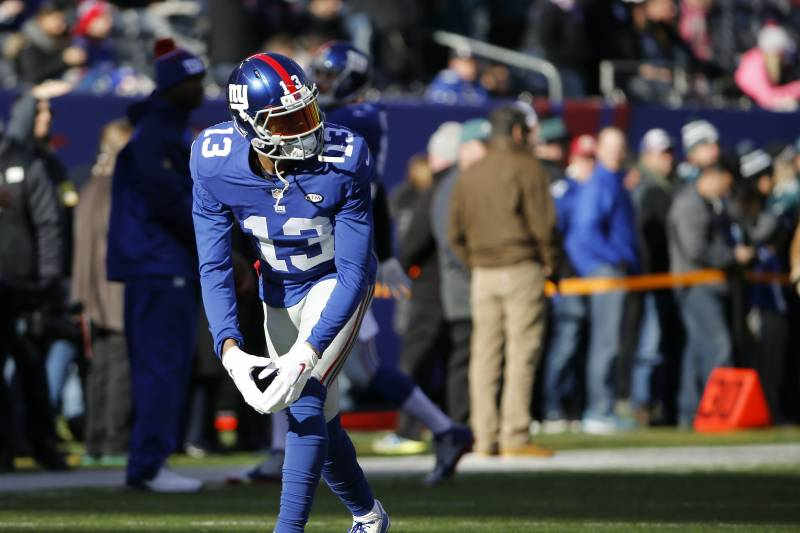 sports shoes 3e3c4 a23c6 Odell Beckham Jr. Sets NFL Record for Most Receiving Yards ...