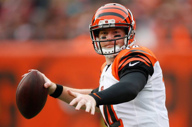 db624668f CLEVELAND, OH - DECEMBER 6: Andy Dalton #14 of the Cincinnati Bengals throws