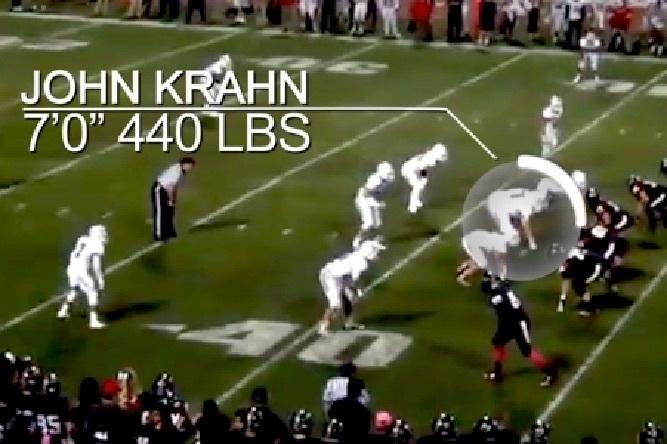 7 Foot 440 Pound Lineman John Krahn Decides To Attend