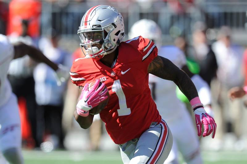 a8632a15eae COLUMBUS, OH - OCTOBER 10: Braxton Miller #1 of the Ohio State Buckeyes