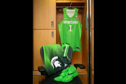 super popular 1a7bb c193d Michigan State to Wear New 'Mean Green' Nike Uniforms ...