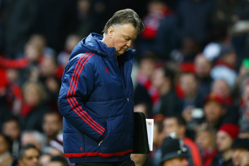5b6d2522 MANCHESTER, ENGLAND - JANUARY 23: Louis van Gaal Manager of Manchester  United leaves the