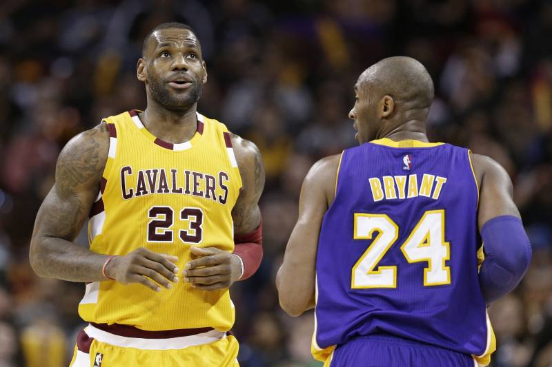 8ba6f5672521 Cleveland Cavaliers  LeBron James (23) and Los Angeles Lakers  Kobe Bryant (