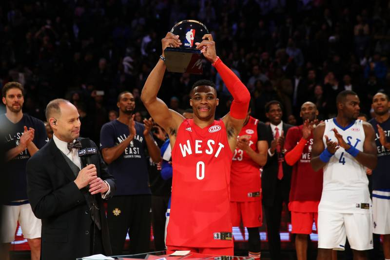 6b61ddfab36 Russell Westbrook Wins 2016 NBA All-Star Game MVP: Stats, Highlights,  Reaction