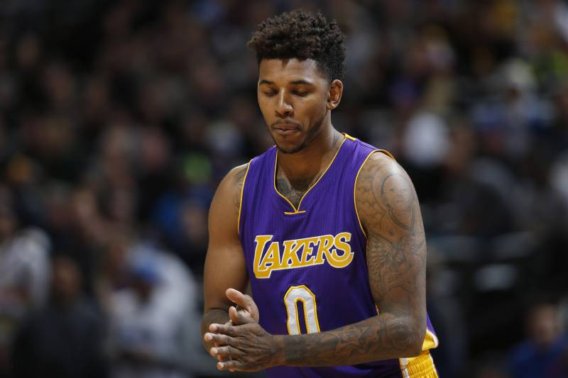 30fcd75f3810 Los Angeles Lakers forward Nick Young (0) in the second half of an NBA