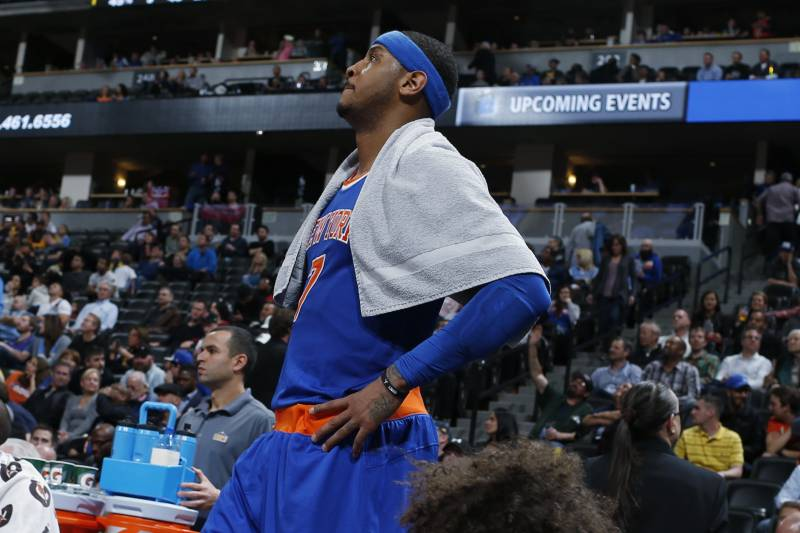 5aa7e59fc710 New York Knicks forward Carmelo Anthony looks on as time runs out in the  second half