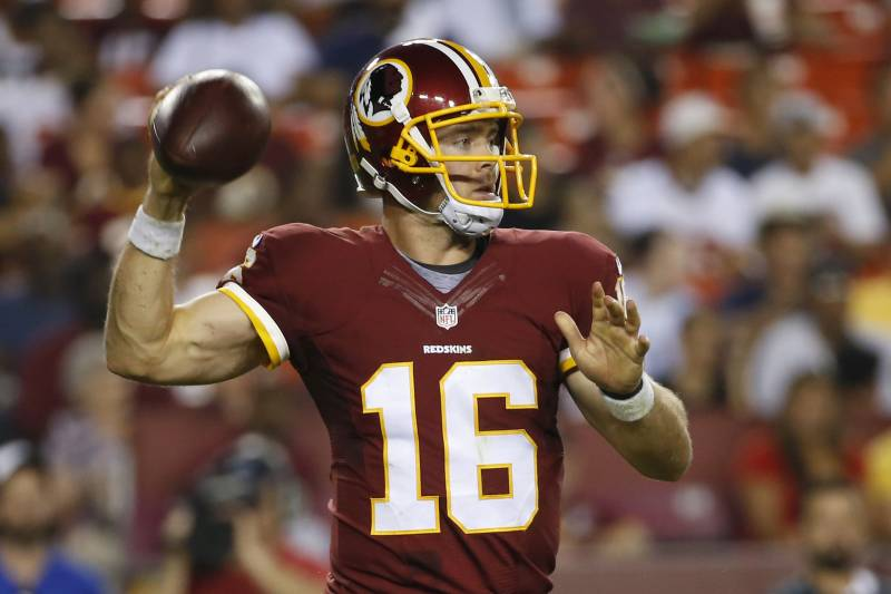 free shipping 0bd2d ccb7b Colt McCoy Re-Signs with Redskins: Latest Contract Details ...
