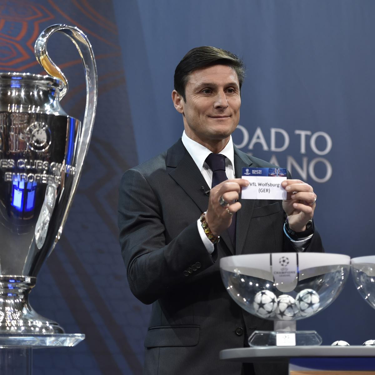 Holders Real Madrid will take on freescoring Paris SaintGermain while English champions Chelsea meet Barcelona after the draw was made for the UEFA