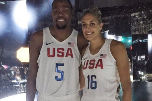 the latest 87f08 30a11 Kevin Durant and Elena Delle Donne Model New Team USA ...