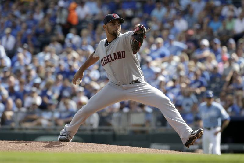 5c0f6f054cb6a Cleveland Indians starting pitcher Danny Salazar throws during the first  inning of a baseball game against