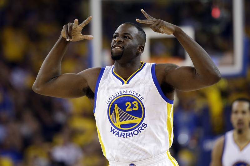 929f4c9ebbea Golden State Warriors  Draymond Green (23) reacts after scoring against the  Houston Rockets