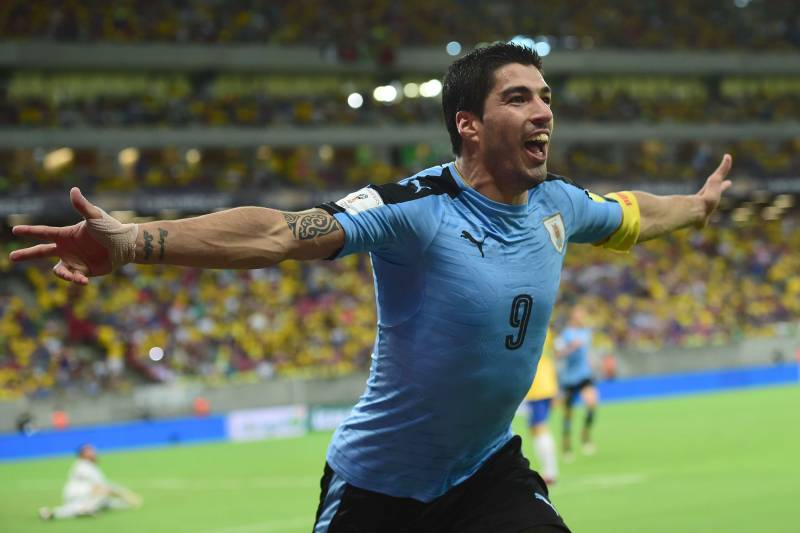 9e8a84ce4a4 Uruguay s Luis Suarez celebrates after scoring against Brazil during their  Russia 2018 FIFA World Cup South