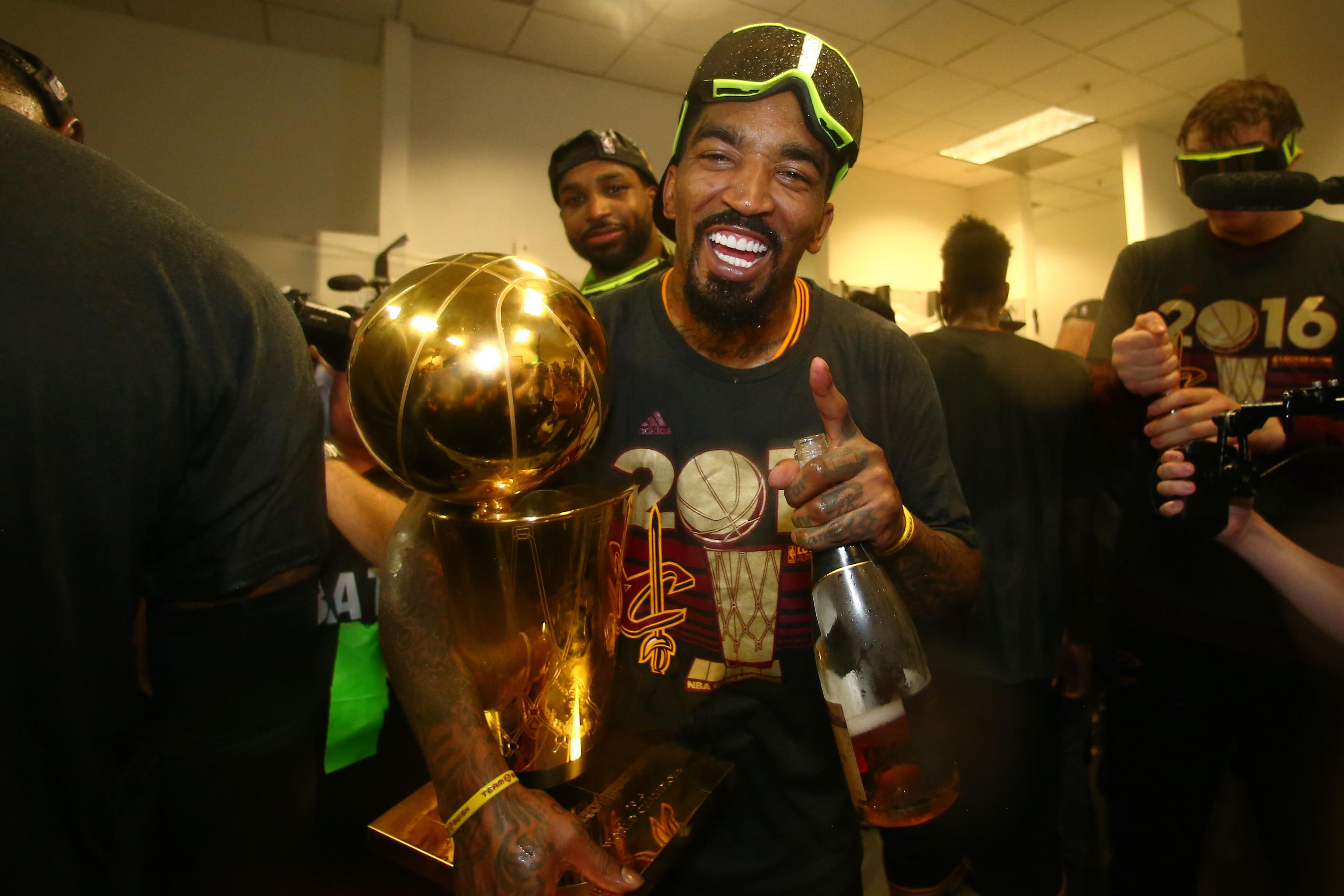 J.R. Smith Gets Emotional Discussing Family After Cavaliers Win ...