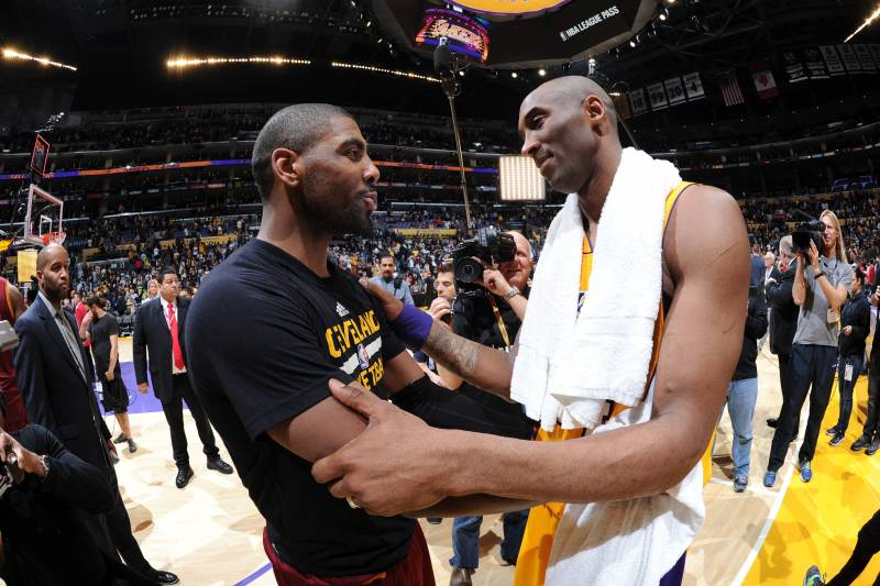 huge selection of c481b 528a1 Kyrie Irving Reveals He FaceTimed Kobe Bryant After Cavs Won NBA Title