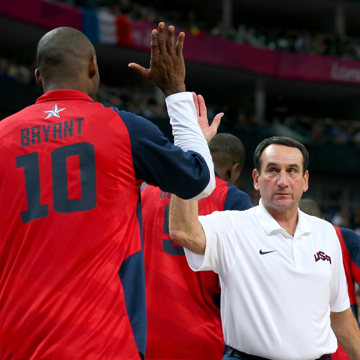 Mike Krzyzewski Comments on Kobe Bryant's Interest in Playing for Team USA