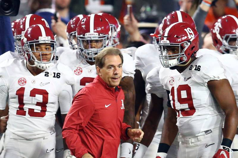 7fa8d18f Alabama head coach Nick Saban is known as being a hard-nosed  disciplinarian, but