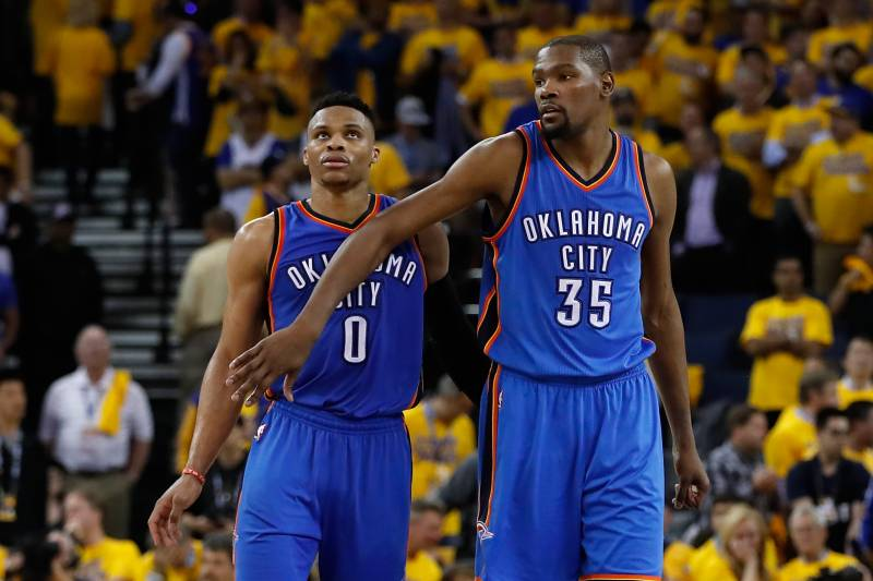 11ae48a7d0b4 Kevin Durant Reportedly Told Russell Westbrook He Was Leaving Thunder via  Text