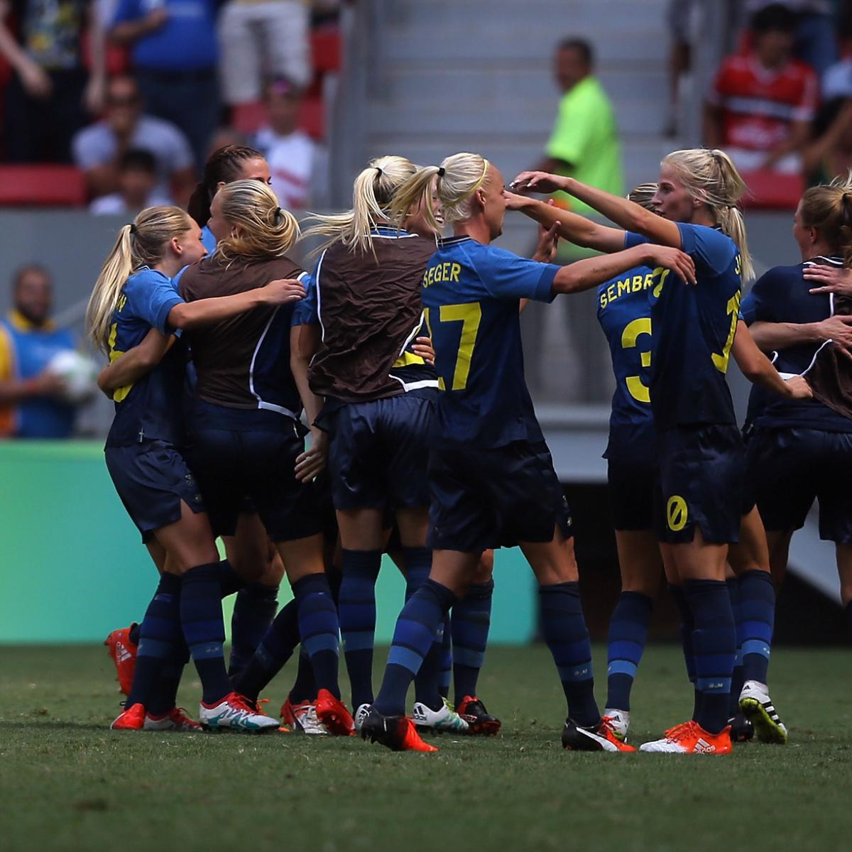 Olympic Soccer 2016: Women's Quarter-Final Results and ...