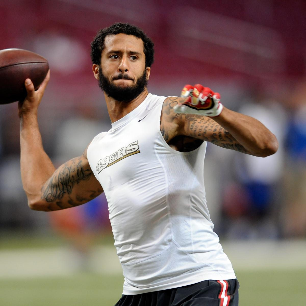 Colin Kaepernick Sits During National Anthem Before ...