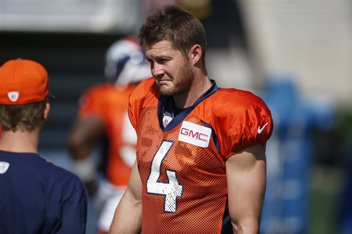 low priced 9a080 731ef Britton Colquitt Reportedly Released by Broncos   Bleacher ...