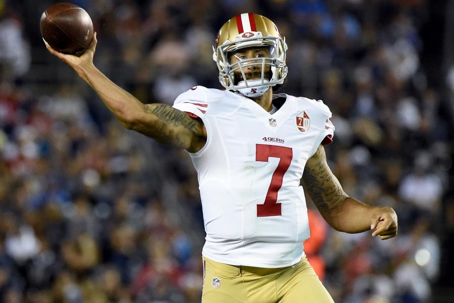 separation shoes b2d61 74c94 Colin Kaepernick Has NFL's Top-Selling Jersey Since National ...