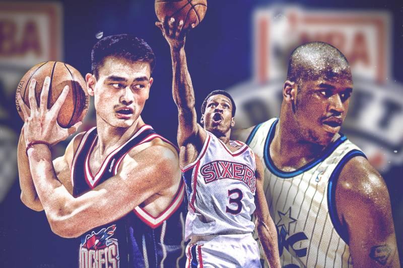2016 Hall Of Famers Yao Ming Allen Iverson Shaq
