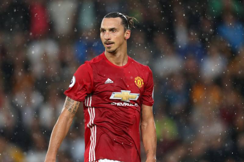 0deab586943 HULL, ENGLAND - AUGUST 27: Zlatan Ibrahimovic of Manchester United during  the Premier League