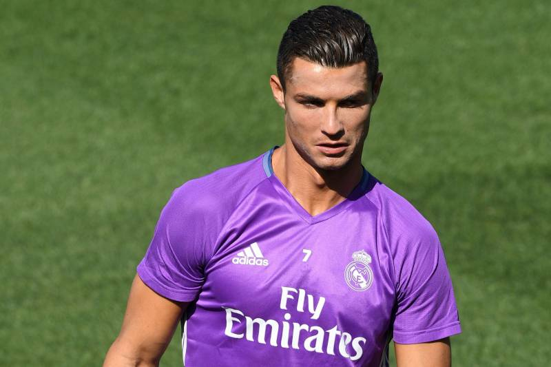 super popular b33eb 8d280 Cristiano Ronaldo Wears Pink Wig at Real Madrid BBQ After 5 ...