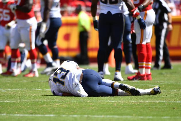 Image result for keenan allen acl injury 2016