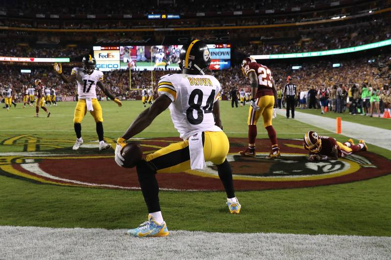 Antonio Brown Fined For Touchdown Dance Cleats Vs Redskins