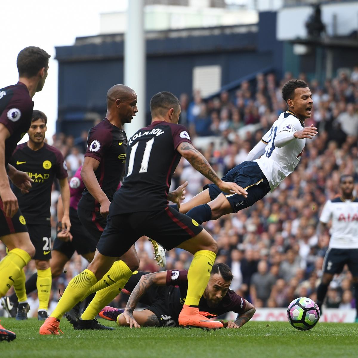 Chelsea Vs Tottenham Score Reaction From 2016 Premier: Tottenham Vs. Manchester City: Score And Reaction From