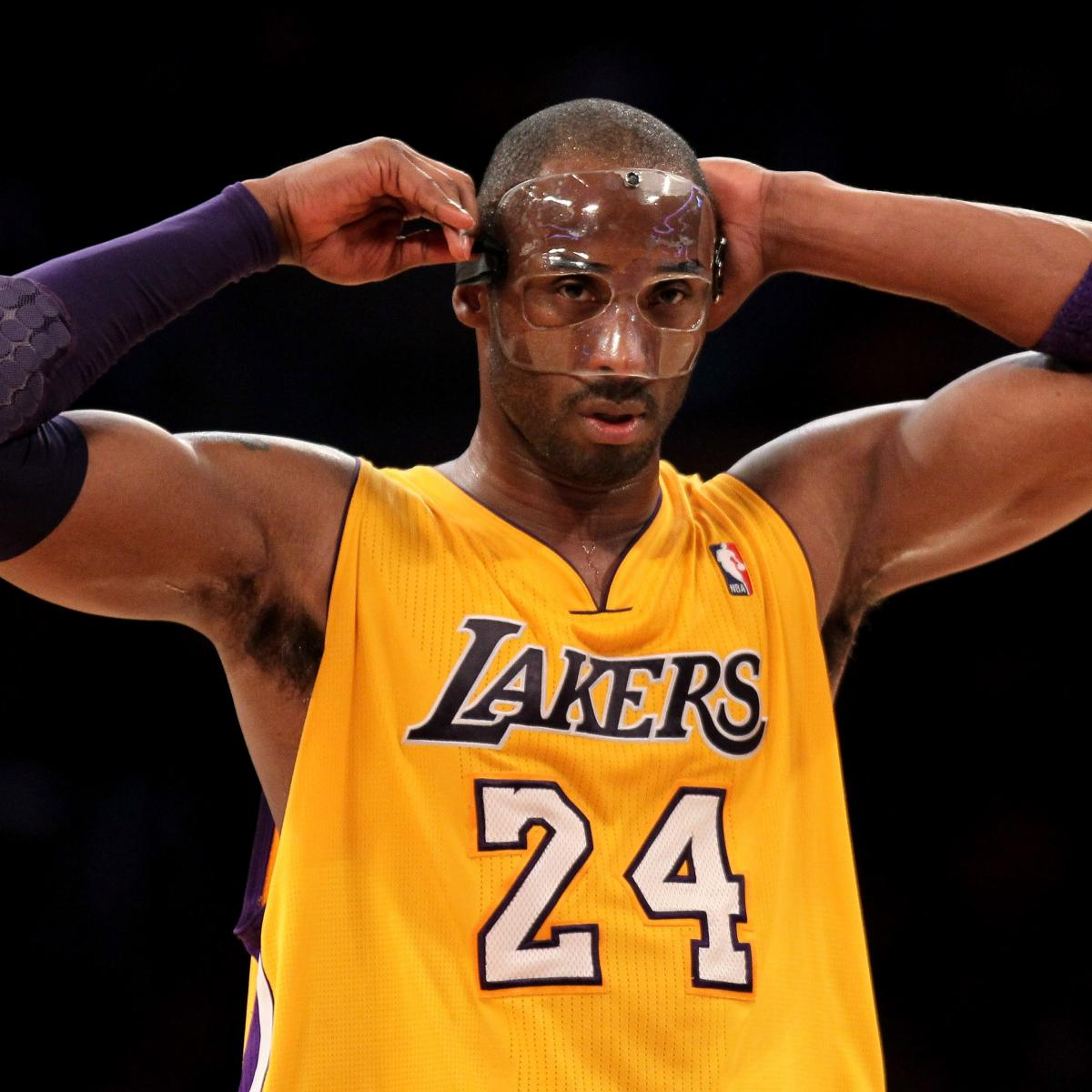 Kobe Bryant Game-Worn Protective Face Mask to Be Auctioned Off, Could Fetch $50K