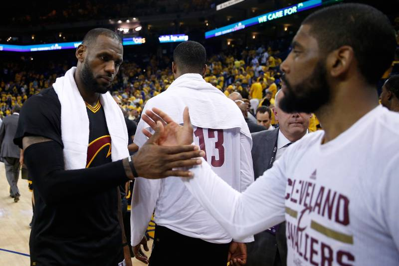 brand new ef6e7 1d702 LeBron-Kyrie Partnership Has All the Potential, and Risks, of Shaq-Kobe  Alliance