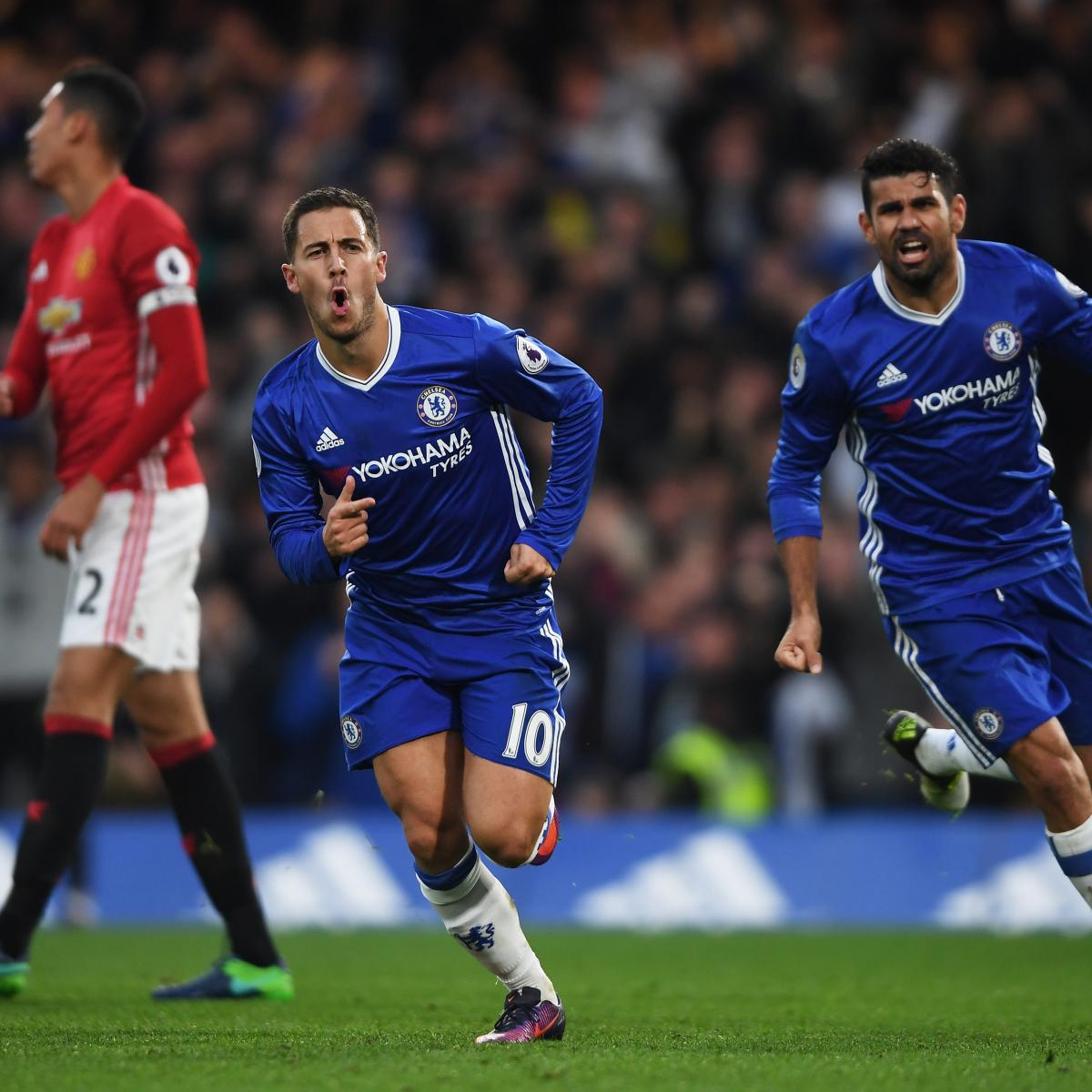 Chelsea Vs Tottenham Score Reaction From 2016 Premier: Chelsea Vs. Manchester United: Score And Reaction From