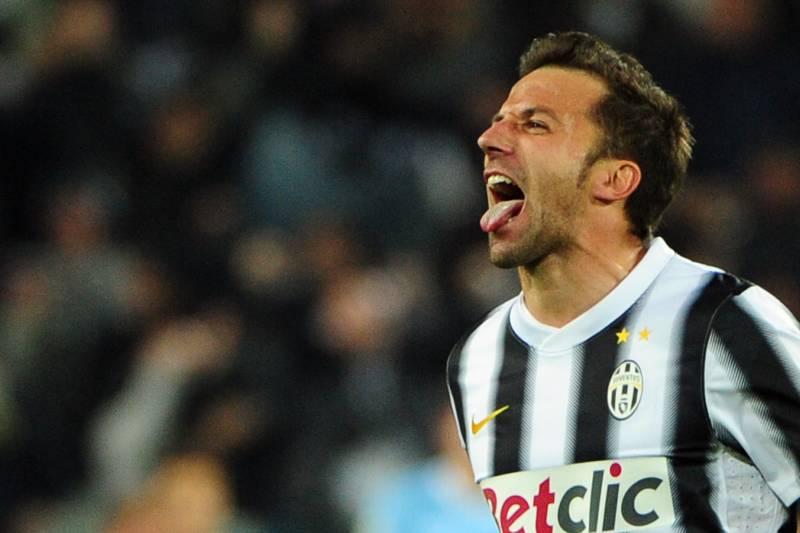 59e480bee Juventus  forward Alessandro Del Piero (R) celebrates after scoring during  the Italian Serie