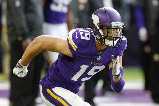 new style 16fc5 5b483 Adam Thielen Injury: Vikings WR Injures Neck vs. Colts ...