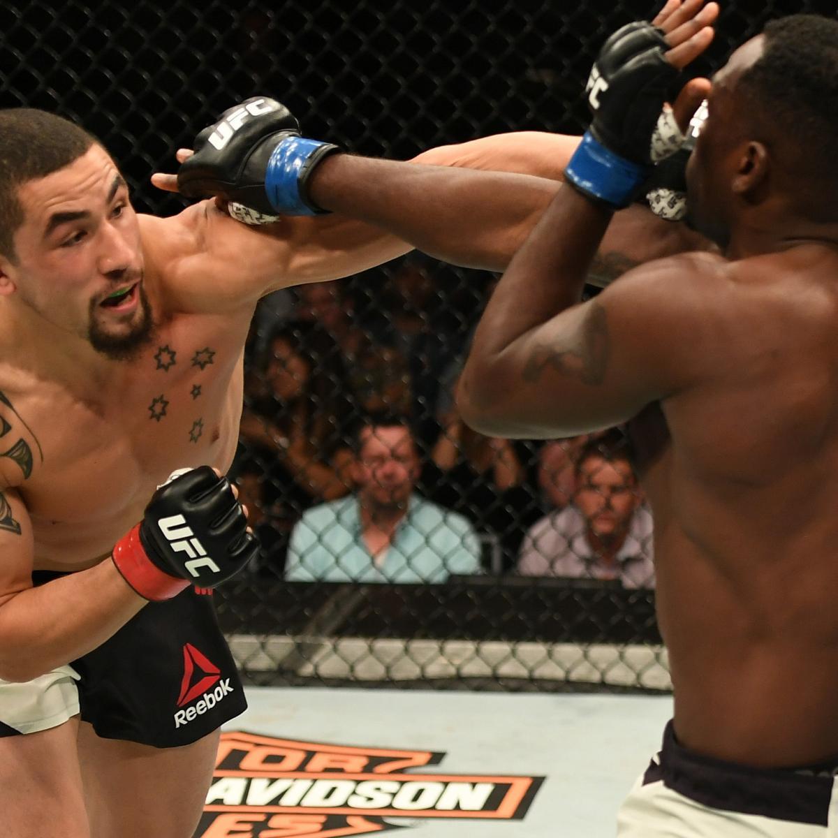 Robert Whittaker vs. Derek Brunson Results and Reaction from UFC ...