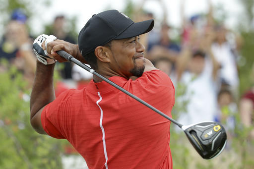 Tiger with his Taylormade M2 driver