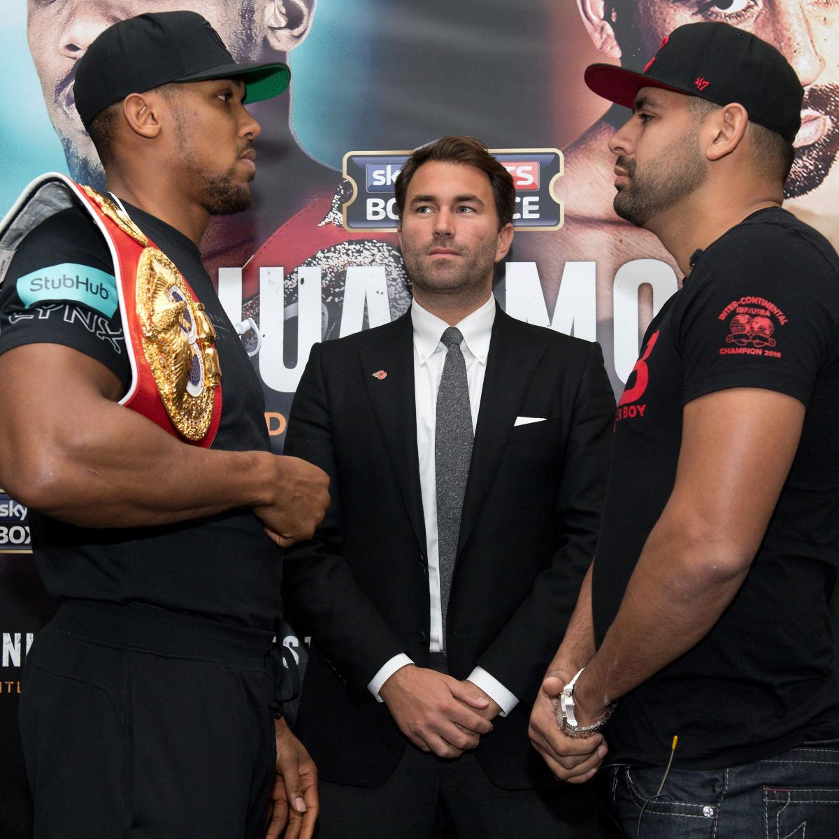 Anthony Joshua Vs. Eric Molina: Fight Time, Date, TV Info