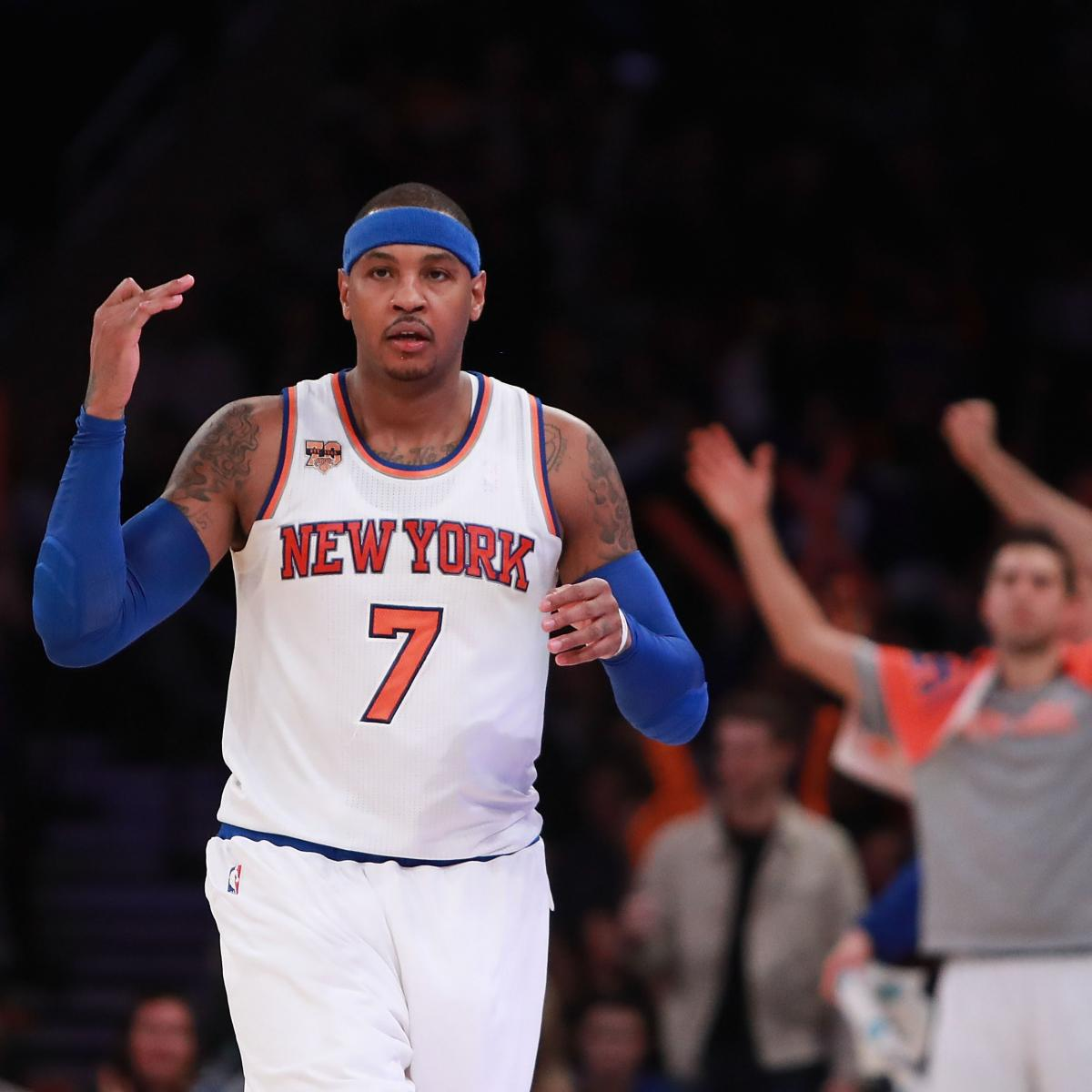 Carmelo Anthony, Phil Jackson Discuss Comments Executive ...