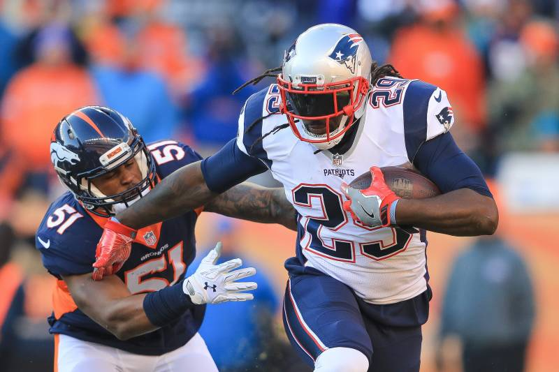 aa89c0e7902 DENVER, CO - DECEMBER 18: Running back LeGarrette Blount #29 of the New.  Sean M. Haffey/Getty Images. The rosters for the 2017 NFL Pro Bowl ...