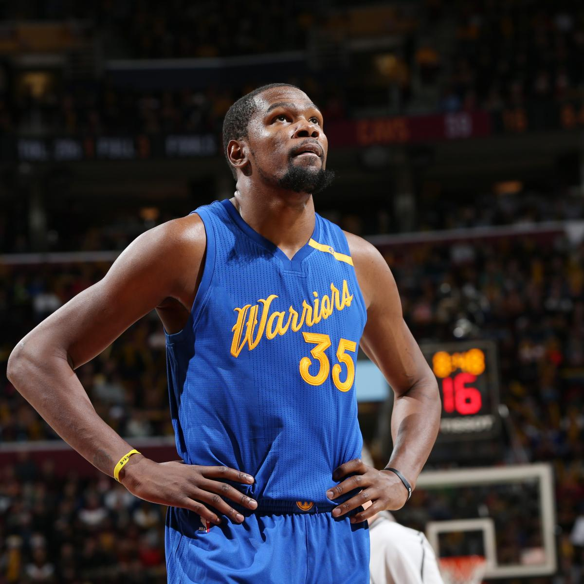 NBA Says Kevin Durant Was Fouled on Final Possession of Warriors vs ...