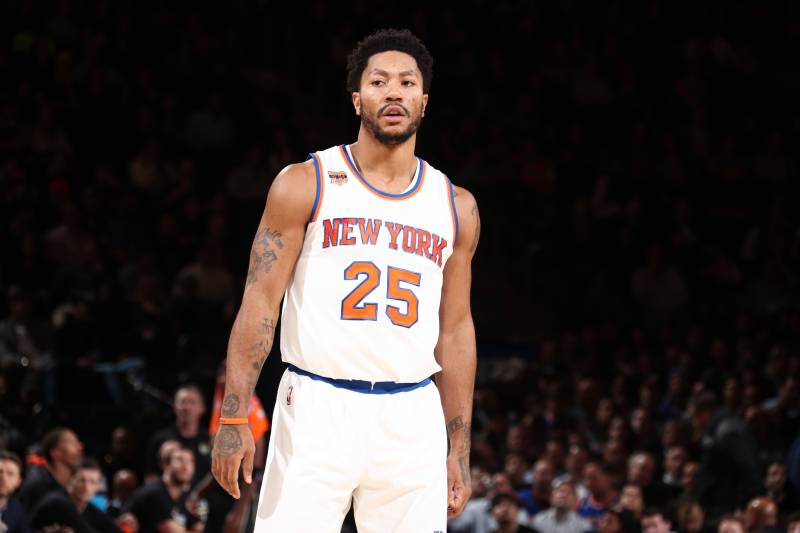 the best attitude ddd29 c5b38 Derrick Rose Fined by Knicks After Missing Game vs. Pelicans ...